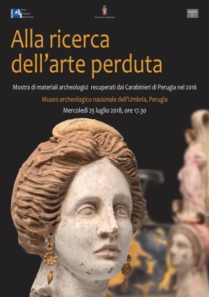 Al via Alla ricerca dell'arte perduta, mostra di materiali archeologici a Perugia