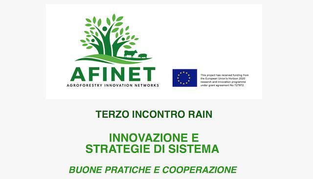 """""""Innovazione e strategie di sistema. Buone pratiche di cooperazione"""", terzo incontro Rain alla Villa Paolina"""