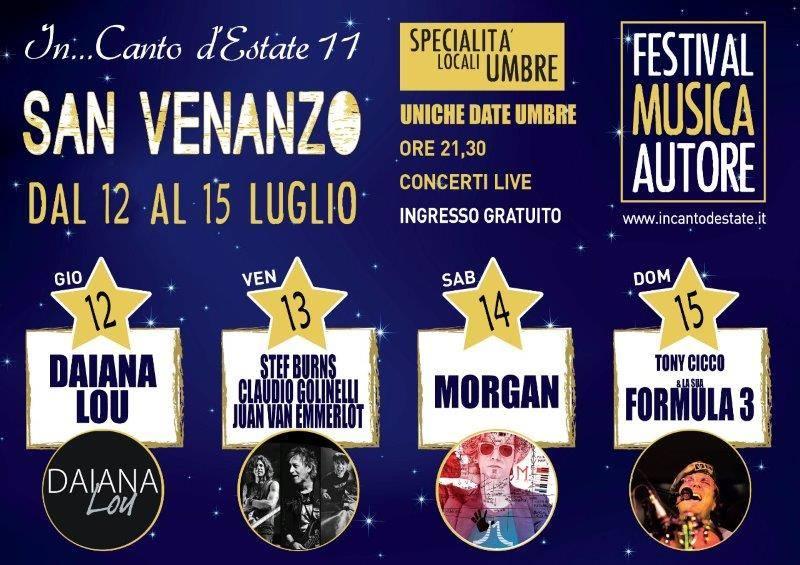In … Canto d'estate, al Parco Villa Faina di San Venanzo una 4 giorni con musica d'autore