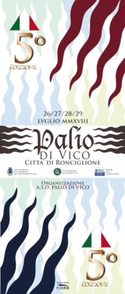 A Ronciglione arriva l'edizione 2018 de Il Palio di Vico con una  regata di 2400 metri fra le nove contrade lacustri