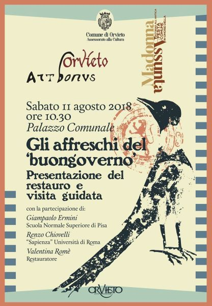 """Presentazione del restauro e visita guidata agli affreschi del """"Buon governo"""""""