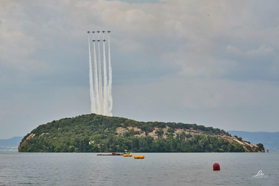 L'Air show delle Frecce Tricolori emoziona il pubblico. Domenica 5 agosto gran finale