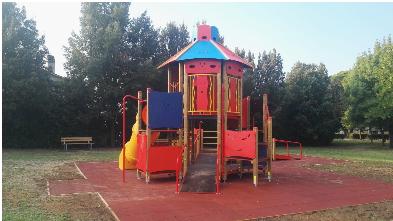 A Ciconia arrivano nuovi giochi per bambini nei giardini di Via degli Olmi e degli Eucalipti