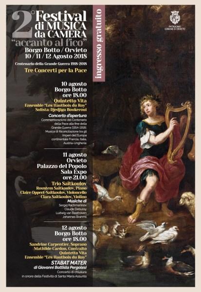 """Al via il 2° Festival di Musica da Camera """"Accanto al Fico"""" a Orvieto e al Borgo del Botto"""