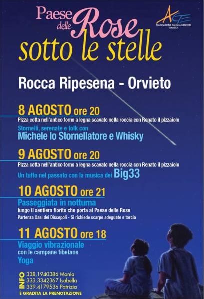 """""""Il Paese delle Rose sotto le Stelle"""" , a Rocca Ripesena 4 serate da non perdere"""