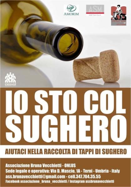 """A Terni parte la campagna """"Io sto col Sughero"""" realizzata dalla Onlus Bruna Vecchietti"""