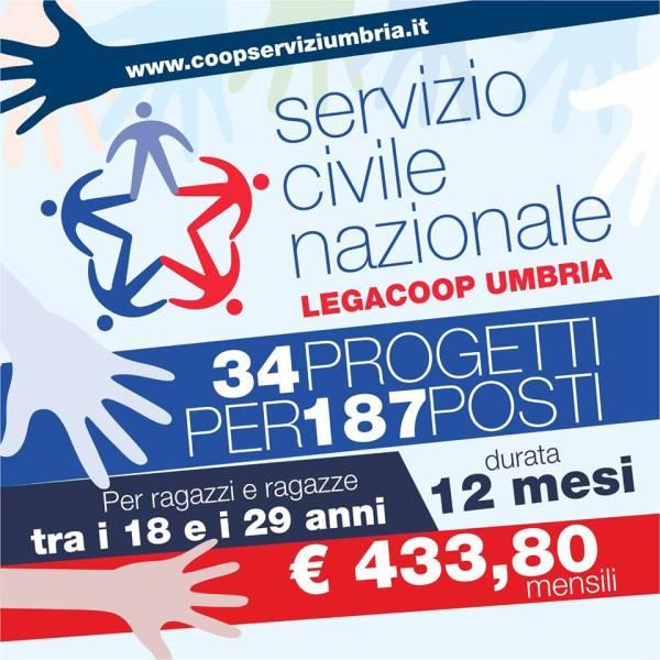 Promossi da Legacoop Umbria 35 progetti per Servizio Civile. Domande entro 28 settembre