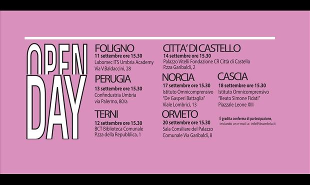 Specializzazione post diploma, a Orvieto l'open day dei Corsi di Its Umbria