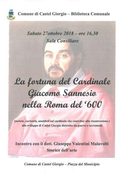 """""""Un paese nel tempo"""", a Castel Giorgio conferenza dedicata alla figura del Cardinale Giacomo Sannesio"""