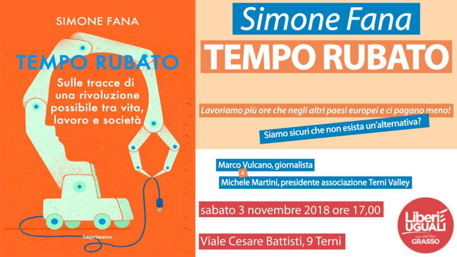 Tempo Rubato, il volume scritto da Simone Fana sarà presentato alla Feltrinelli di Terni