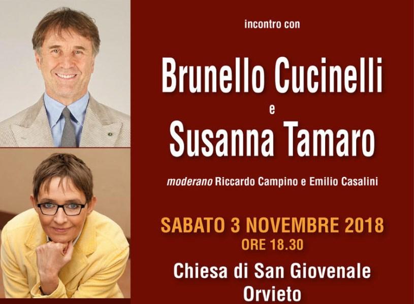 La bellezza, i sogni, l'etica, l'amicizia, l'eternità: incontro con Brunello Cucinelli e Susanna Tamaro