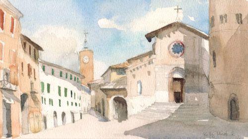 """Orvieto dipinta, incontro in Piazza Duomo per il primo """"Sketchcrawl"""" di massa"""
