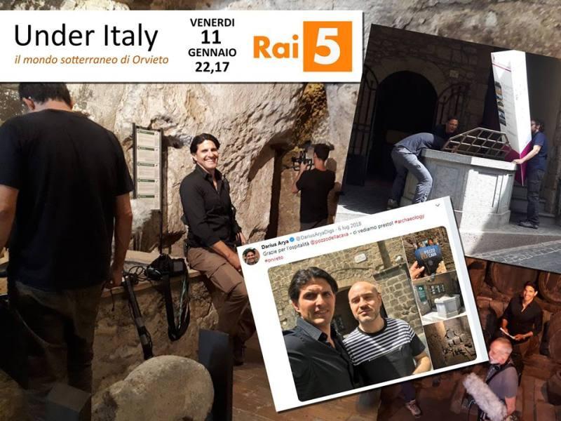 """Su Rai 5 alla scoperta dei sotterranei di Orvieto con """"Under Italy"""""""