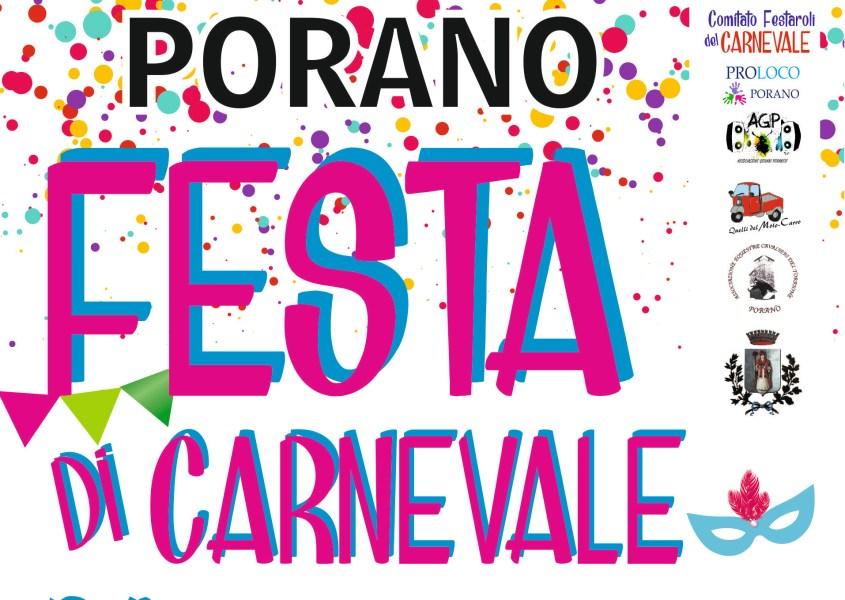 Carnival party a Porano, torna la sfilata dei carri allegorici