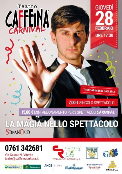 Teatro Caffeina invita grandi e piccini in occasione del Carnevale fra teatro, divertimento e magia