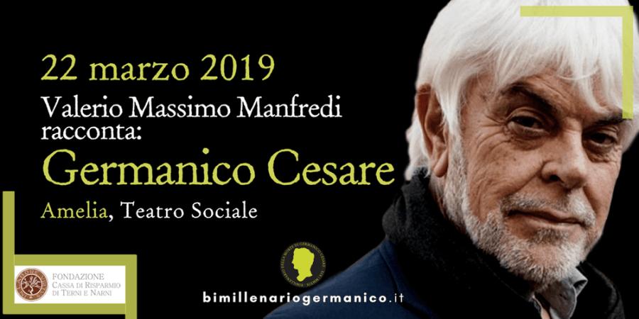 Incontro ad Amelia con Valerio Massimo Manfredi sulla figura di Germanico Cesare