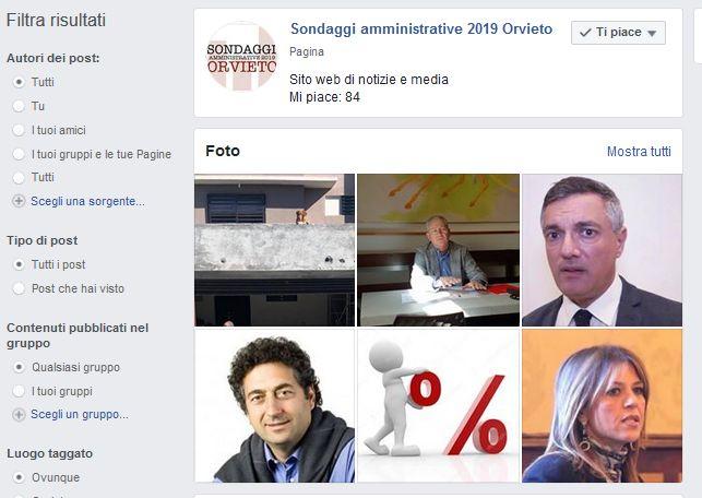 Sondaggi amministrative 2019 Orvieto. E' una bufala