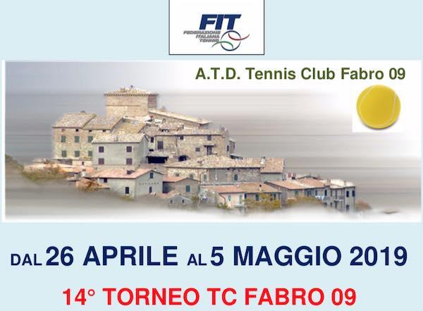 Via al Torneo TC Fabro 09 – Singolare Maschile 3° e 4° Categoria