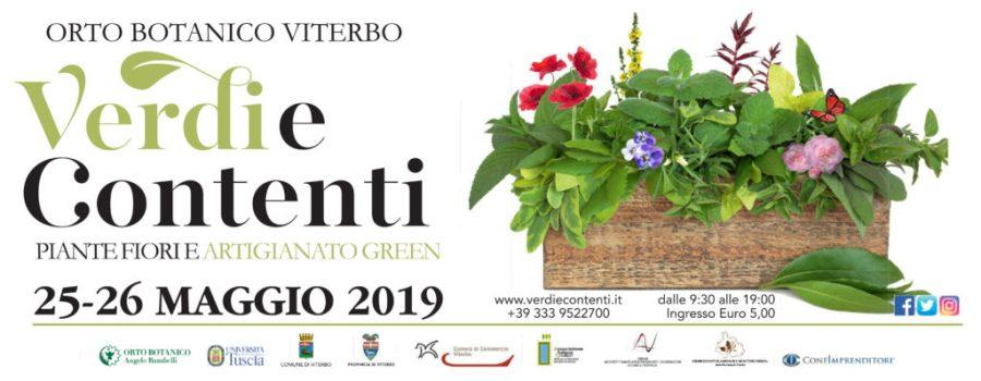 """Nell'Orto Botanico dell'Unitus torna """"Verdi e Contenti"""", mostra mercato florovivaistica dedicata a piante, fiori e artigianato green"""