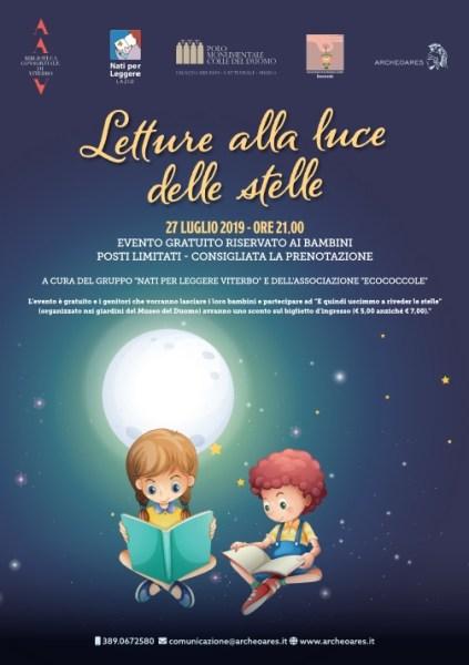 Letture alla luce delle stelle al Museo Colle del Duomo di Viterbo