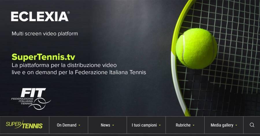 VETRYA rilascia il nuovo servizio video streaming per SuperTennis il canale video della Federazione Italiana Tennis