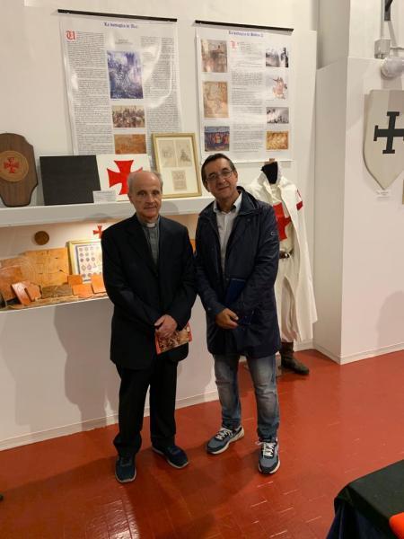 Monsignor Gianni Fusco in visita al Museo Storico-Didattico dei Cavalieri Templari di Viterbo