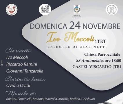 """""""Ivo Meccoli 4Tet"""", ensemble di clarinetti in concerto"""