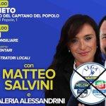 Al Palazzo del Capitano del Popolo Matteo Salvini per Valeria Alessandrini