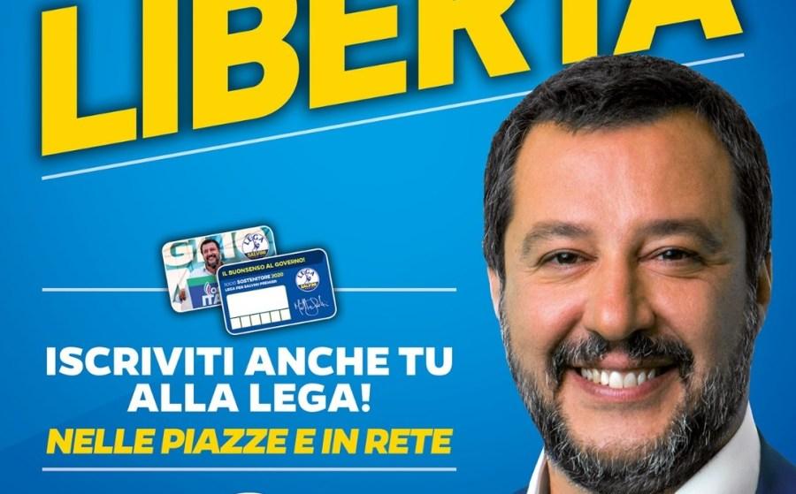 """Tesseramento """"Lega Salvini Premier"""" in Piazza della Repubblica"""