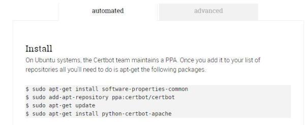 Instrucciones de instalación CertBot para Apache + Ubuntu 16.04.2