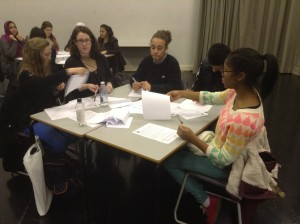 Students at an Orwell Youth Prize Workshop