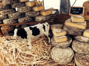 フランス リヨンの河岸のマルシェのチーズ屋さん