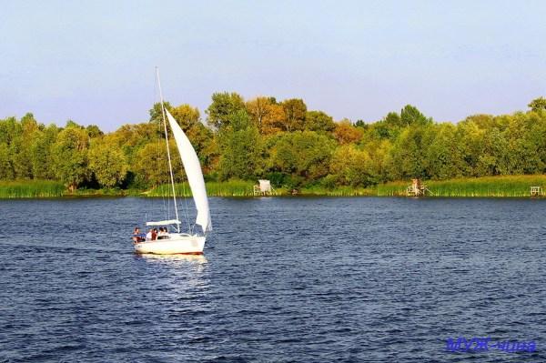 Фото отдых, река, вода, осень