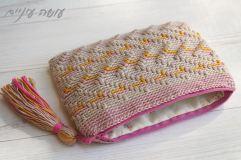 עושה עיניים - פספסים - ארנקים בטקסטורות - זיגזגים || Osa Einaim - Passpasim - Crochet textured purses pattern