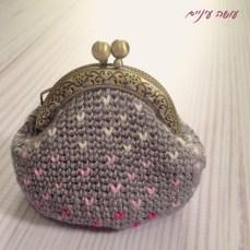 עושה עיניים - ארנק פרפרים סרוג    Osa Einaim - crochet tapestry purse