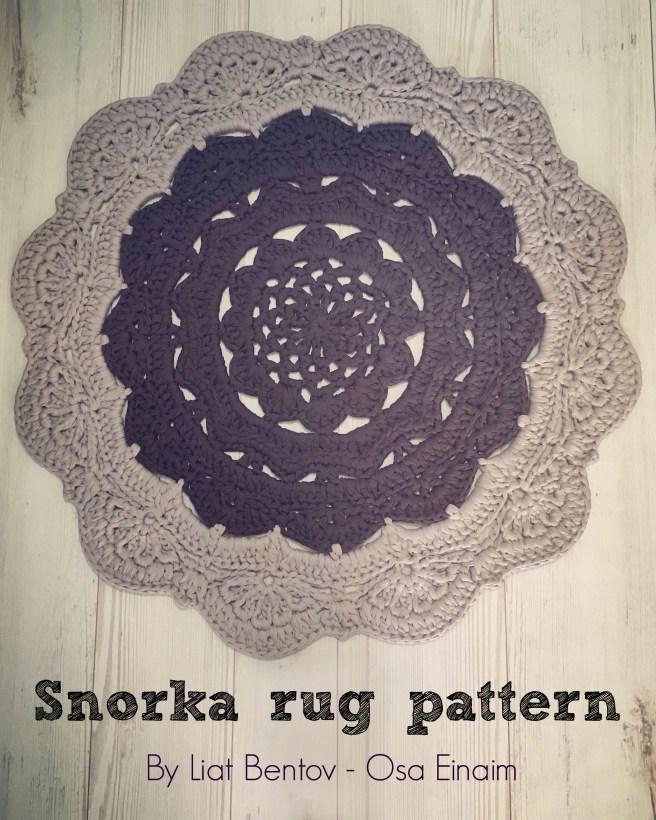 עושה עיניים - שטיח סרוג מחוטי טריקו בדוגמת סנורקה - Osa Einaim - Snorka crochet t-shirt yarn trapillo pattern