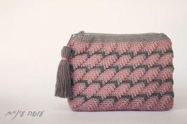 עושה עיניים - פספסים - ארנקים בטקסטורות - אלכסונים || Osa Einaim - Passpasim - Crochet textured purses pattern