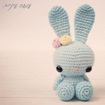 לולי - בובת אמיגורומי סרוגה - עושה עיניים    Amigurumi Spring bunny - OsaEinaim