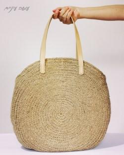 עושה עיניים - הוראות לסריגת תיק עגול מחבל יוטה    Osa Einaim - Round jute bag crochet pattern