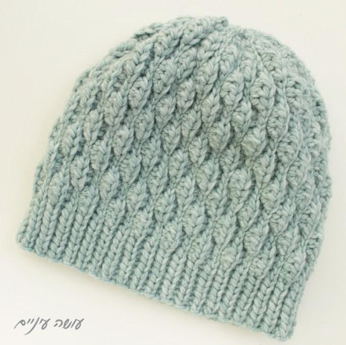 כובע סרוג בדוגמת Wynn    עושה עיניים