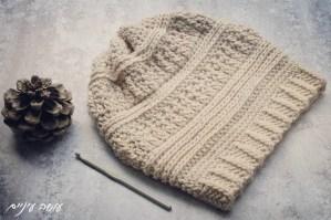 עושה עיניים - כובע סרוג במסרגה אחת    OsaEinaim - Crochet slouch beanie