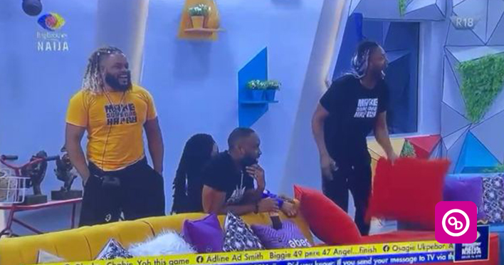 Watch the Moment Angel and Pere returned to the #BBNaija House