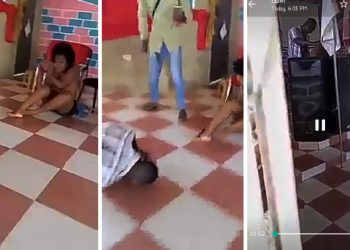 Ghanaian pastor caught pants down 'eating' married woman with wild style right in a church (Watch)