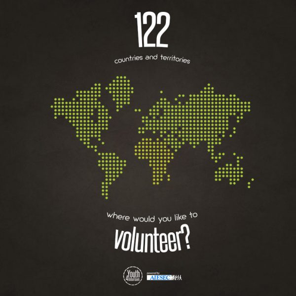 icon style world map - where will you volunteer next