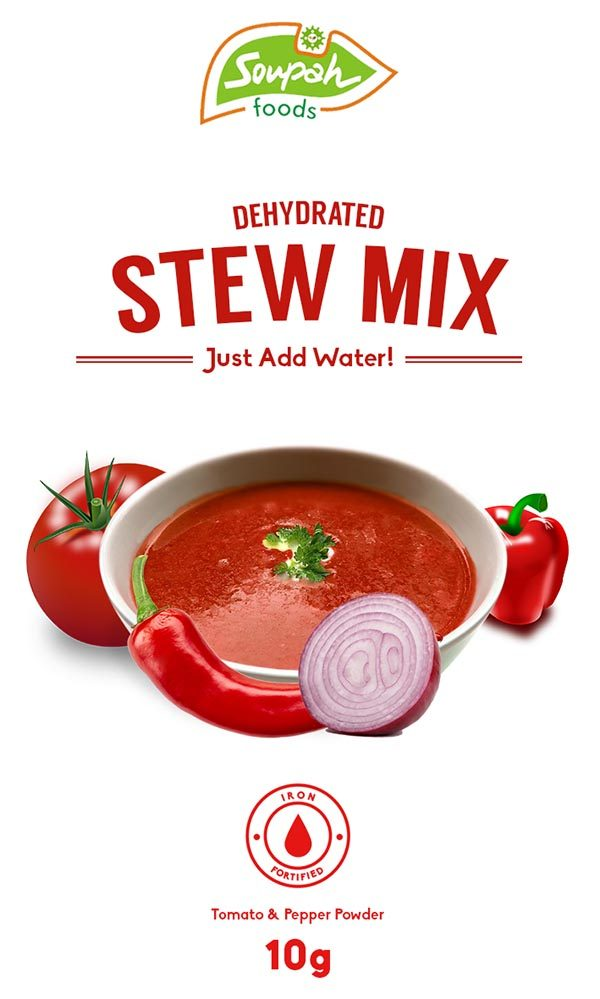 package design for soupah stew mix