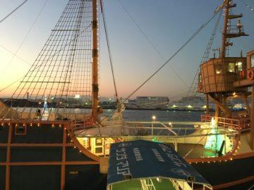 大阪港帆船式的遊船聖瑪利亞號6