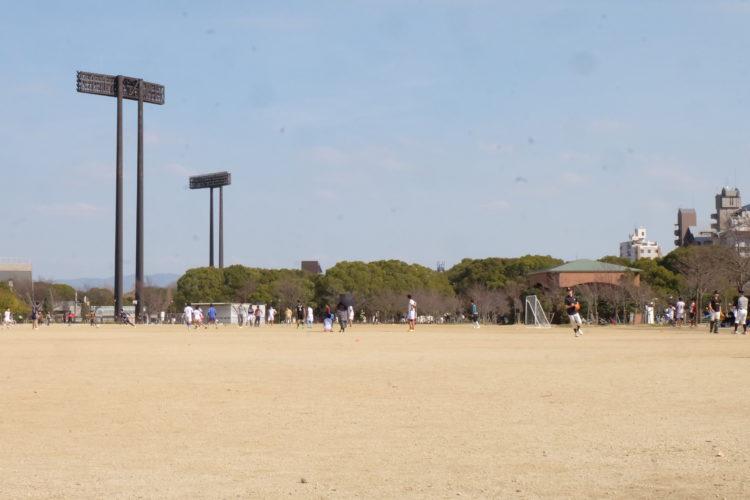 나가이 공원 광장 모습