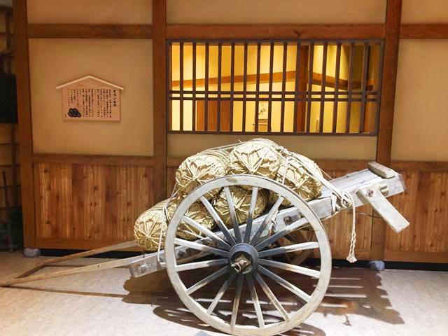 空庭温泉 OSAKA BAY TOWER,空庭本町,米俵をのせた車,