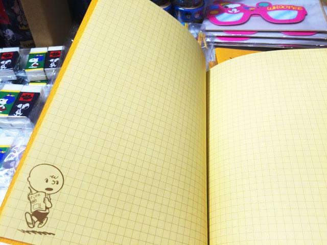 阪急うめだスヌーピーフェスティバル2016で販売しているヴィンテージデザインのノートの中身