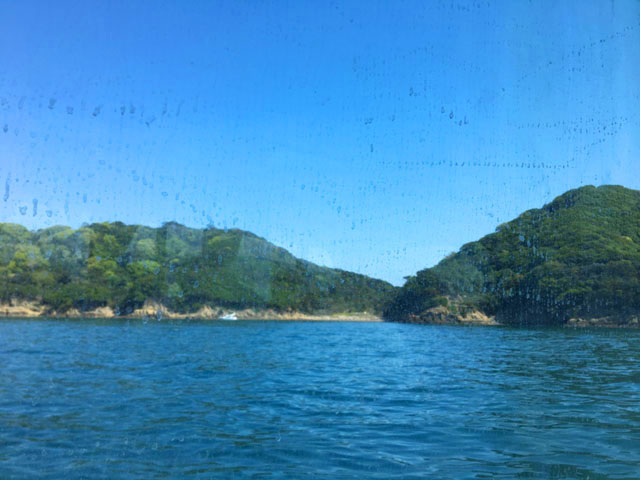 友ヶ島汽船,船から島が見える様子,